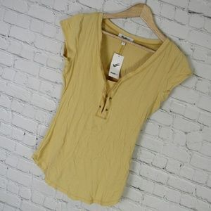 William Rast Shirt Top Womens Small S Yellow